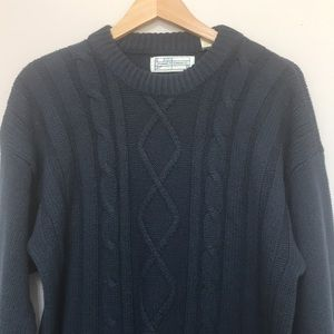 Vintage Functionals chunky cable knit sweater L